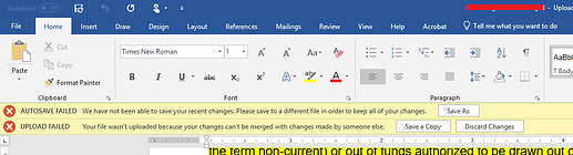 SharePoint Error your file wasn't uploaded because your changes can't be merged